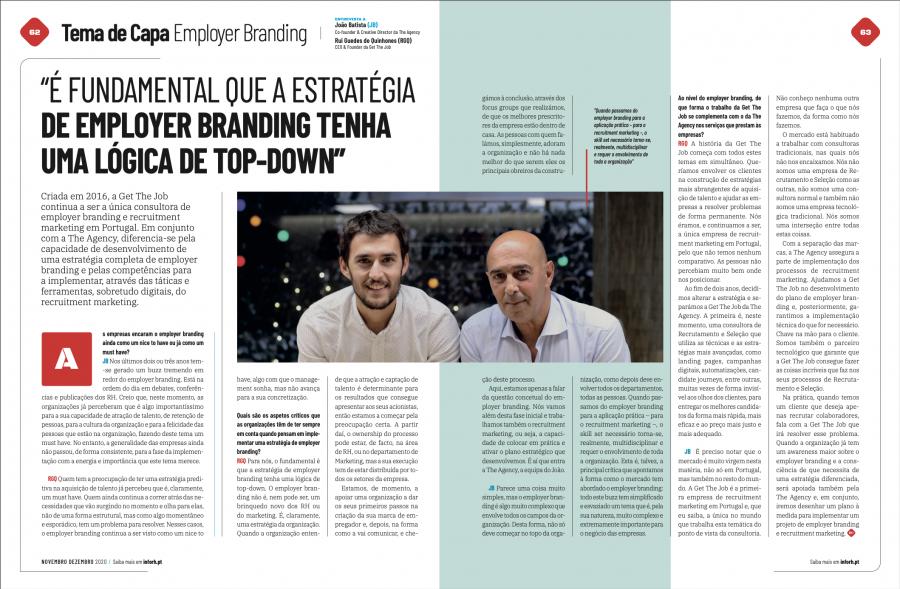 Tema de Capa Employer Branding. João Batista e Rui Quinhones em entrevista à RH Magazine.